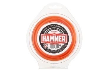 Леска триммерная 1.3мм 15м звезда Hammer 216-805, 60 гр., блистер