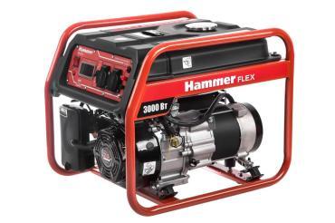 Бензоэлектростанция 3КВт 220В 50Гц бак 15л время работы 9ч Hammer Flex GN3000, 45 кг., картонная коробка