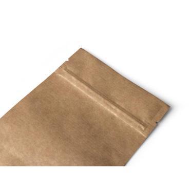 Крафт пакет дой-пак, зип-лок, металлизированный, 105*30*150 мм