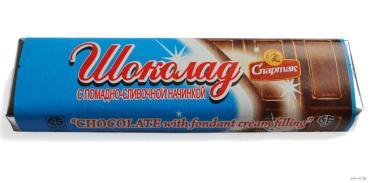 Шоколад Спартак с помадно-сливочной начинкой