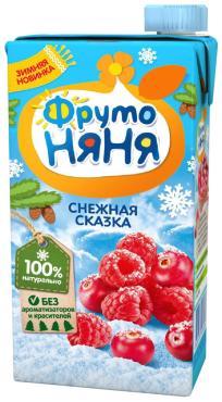 Морс ФрутоНяня Снежная сказка клюква и малина
