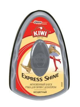 Губка для обуви дозатором прозрачная Kiwi, 55 гр., пластиковая упаковка