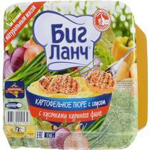 Пюре Кухня без границ Биг Ланч картофельное с кусочками куриного филе