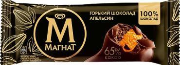 Мороженое Магнат горький шоколад и апельсин, 73 гр., флоу-пак