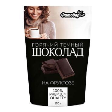 Шоколад горячий Фитодар какао-напиток темный на фруктозе 170 гр.