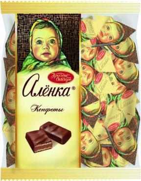КонфетыКрасный Октябрь Аленка вафельные с фундуком