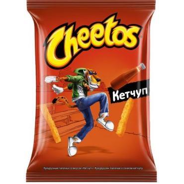 Кукурузные палочки со вкусом кетчупа, Cheetos, 55 гр, флоу-пак