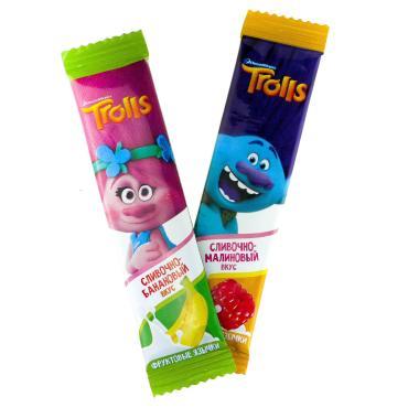 Жевательная конфета Trolls Вкус Манго, 14 гр., флоу-пак
