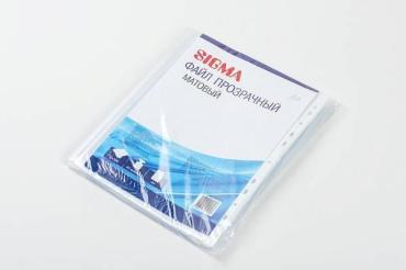 Файл-вкладыш Sigma матовый прозрачный формат А4 100шт.