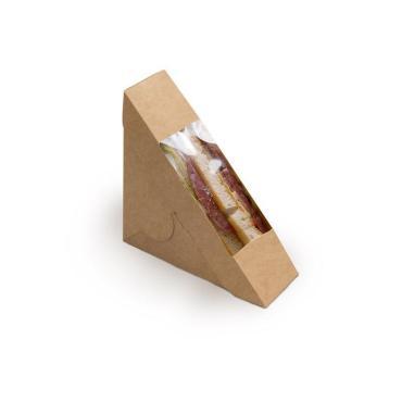 Упаковка для сэндвичей, 50 мм, крафт
