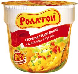Пюре картофельное томленая курочка с сыром, Роллтон, 40 гр., ПЭТ
