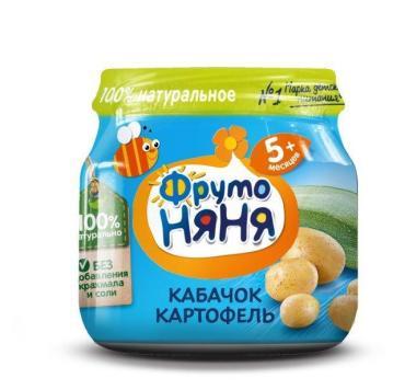 Детское пюре ФрутоНяня Кабачок и картофель с 5 месяцев