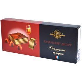 Торт Азбука шоколада Вафельный десерт Французский трюфель, 220 гр., картонная коробка