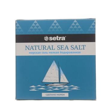 Соль Setra пищевая морская йодированная мелкая