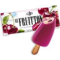 Мороженое пломбир Le Fruitton с вишневым наполнителем в вишневой глазури 60 г