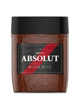 Кофе растворимый Absolut Drive Blend №120 сублимированный, 95 гр., стекло