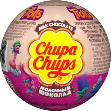 Конфеты Chupa Chups шоколадные Тролли