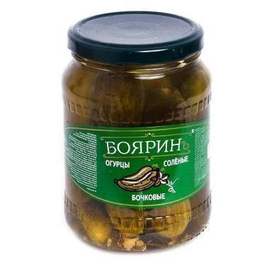 Огурцы Бояринъ Соленые бочковые 10-12 см