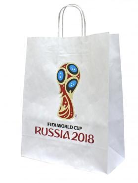 Пакет подарочный FIFA 2018 крафт белый 32*27*12см