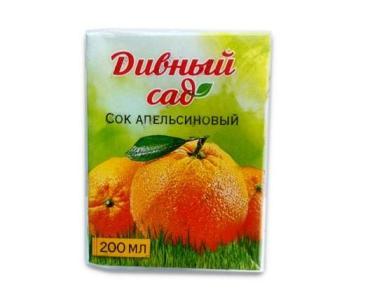 Сок Дивный Сад апельсиновый