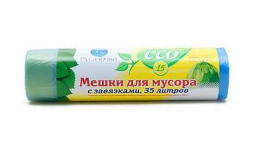 Мешки для мусора Русалочка Eco Line С завязками 35л. 15шт.