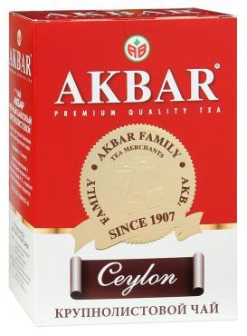 Чай Akbar Ceylon Медаль крупнолистовой черный, 100 гр., картон