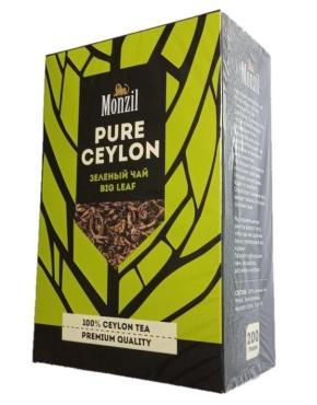 Чай листовой зеленый Monzil Pure Ceylon, 200 гр., картонная коробка