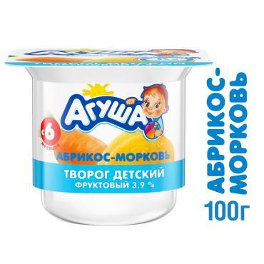 Творог фрукт Агуша абр-мор 3.9% 1х6х100г NEW