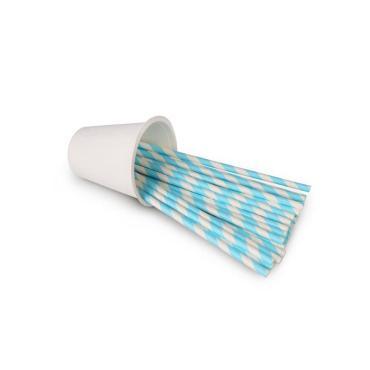 """Трубочки для коктейлей """"Голубой Кюрасао"""", 195*6 мм, 25 шт."""