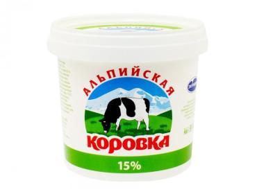 Молокосодержащий продукт 15% Альпийская коровка
