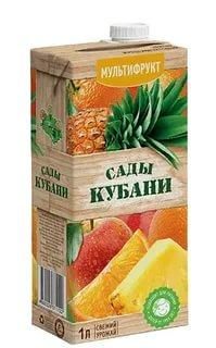 Нектар мультифруктовый Сады кубани, 1 л., флоу-пак