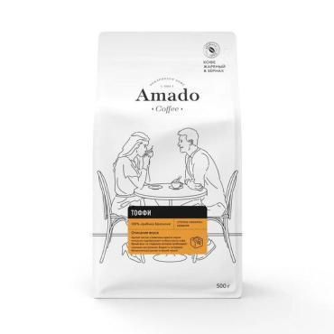Кофе ароматизированный в зернах Amado  Тоффи, 500 г
