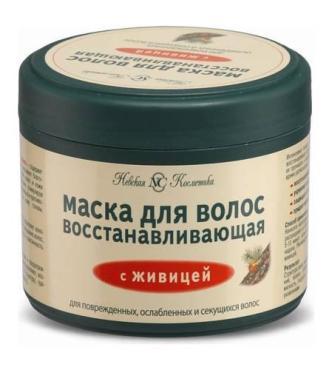 Маска для волос восстанавливающая с живицей Невская Косметика, 300 мл., пластиковая банка