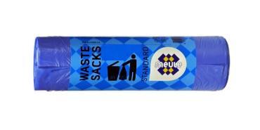 Мешки для мусора MEULE STANDART с завязками голубые 35л*15шт
