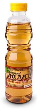 Уксус яблочный 6% натуральный Абрико, 250 мл., пластиковая бутылка