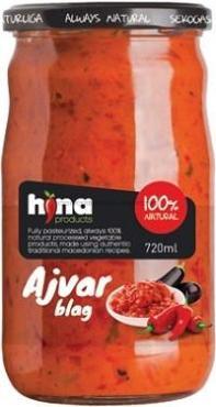 Закуска овощная острая Айвар HINA, 720 мл., стекло