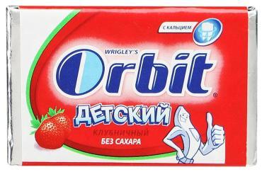 Жевательная резинка Orbit Детский Клубничный