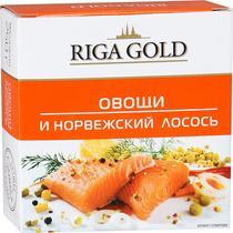 Лосось Riga Gold норвежский с овощами в томатном соусе