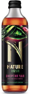 Энергетический напиток малина-мята Nature Rush, 325 мл., стекло