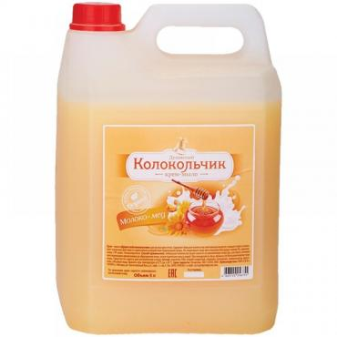 Крем-мыло Душистый Колокольчик Молоко-мед Жидкое