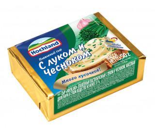 Сыр hochland плавленый с луком и чесноком
