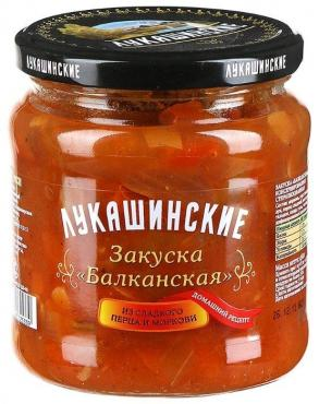 Закуска Лукашинские Балканская из сладкого перца и моркови Домашний рецепт