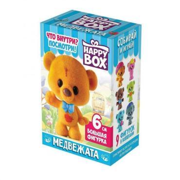 Набор карамель с игрушкой Happy box Медвежата