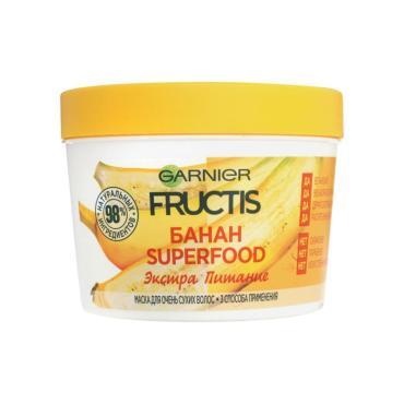 Маска для волос Garnier Fructis Superfood 3в1 Банан питательная для очень сухих волос