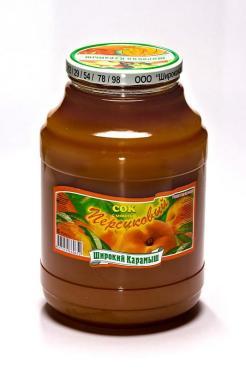 Сок Широкий Карамыш персиковый с мякотью