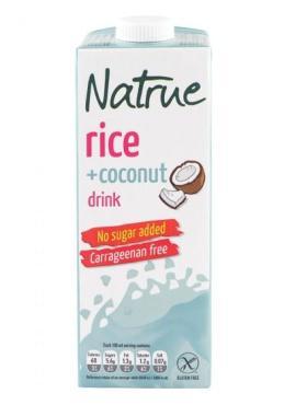 Напиток Natrue рисовый с кокосом без сахара 1 л.