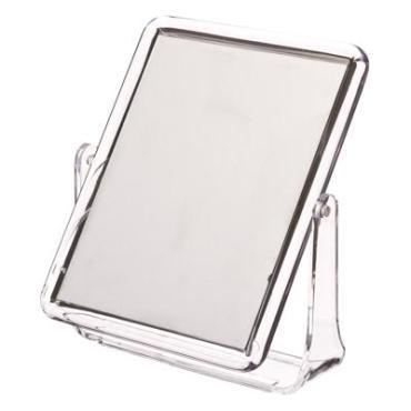 347-003 Зеркало настольное прямоугольное, 15х18см, пластик прозрачный