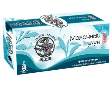 Чай зеленый Черный дракон Молочный улун 25 пакетов