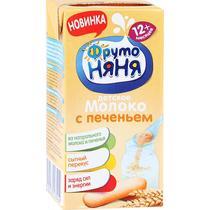Коктейль ФрутоНяня молочный молоко с печеньем