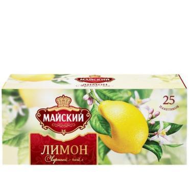 Чай черный Майский Лимон 25 пакетов